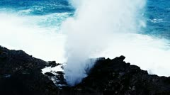 Blowhole Oahu Stock Footage