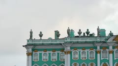 The upper part of the Winter Palace Stock Footage