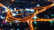 Bangkok at night. Timelapse Stock Footage