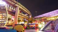 Bangkok at night. Timelapse in motion Stock Footage