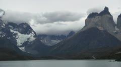 Torres del Paine Lago Pehoe s32 Stock Footage