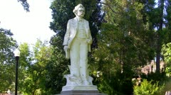 Mark Twain Statue In Park- Angels Camp, CA Stock Footage
