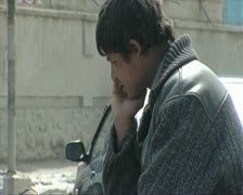 Kabul city Afghanistan Beggars in the street Stock Footage