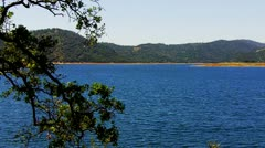 New Melones Lake Near Angels Camp, CA- Wide Shot Stock Footage