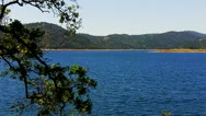 Stock Video Footage of New Melones Lake Near Angels Camp, CA- Wide Shot
