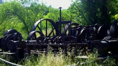 Old Rusting Mining Equipment Stock Footage