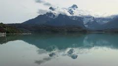 Torres del Paine los Cuernos s15 Stock Footage
