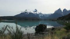 Torres del Paine los Cuernos s19 Stock Footage