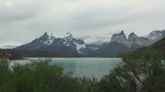Torres del Paine los Cuernos s21 Stock Footage