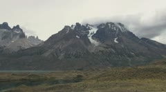 Torres del Paine view of glacier Stock Footage
