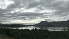 Torres route Lago Perteno s35 Stock Footage