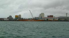 Leaving Port in Ishigaki Okinawa Islands 02 tracking shot 60fps native slowmo Stock Footage