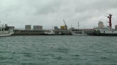 Leaving Port in Ishigaki Okinawa Islands 04 tracking shot Stock Footage