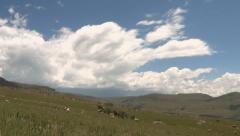 Time-lapse of clouds over Drakensberg mountains Stock Footage