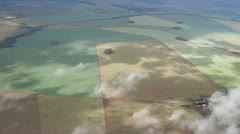 Brazil fields from plane - stock footage