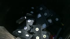 Old VHS tapes tossed in garbage, the passing of a format Stock Footage