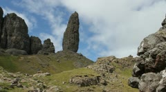 Old Man of Storr Isle of Skye Scotland Stock Footage