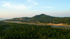 Airport on Samui island, Thailand Stock Footage