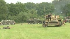 German tank crew captured by American soldiers. German soldier shot Stock Footage