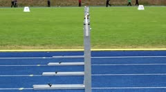 hurdle race slow motion - stock footage