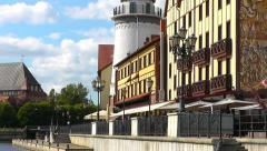 Fishing Village. Kaliningrad Stock Footage
