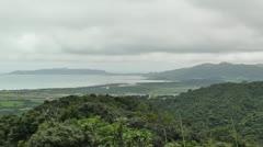 Mount Omoto view to Ishigaki Okinawa Islands 03 Stock Footage