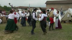 Encampment dance 04 Stock Footage
