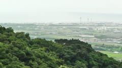 Mount Omoto view to Ishigaki Okinawa Islands 06 pan Stock Footage