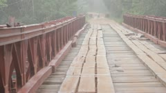 Empty bridge over river Stock Footage