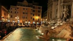 Rome: Fontana di Trevi time lapse night timelapse Stock Footage