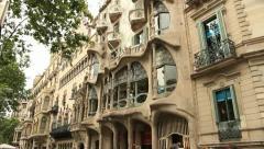 Casa Battlo, Barcelona Stock Footage