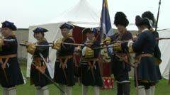 Kalbermatten infantry 03 Stock Footage