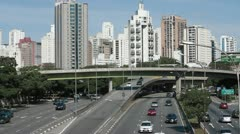Sao Paulo highway traffic - stock footage