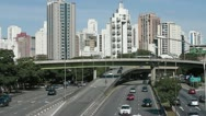 Stock Video Footage of Sao Paulo highway traffic