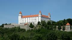 Bratislava Castle, Slovakia Stock Footage
