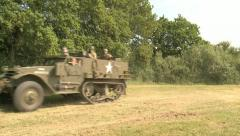 US Army Half Track Armored Vehicle Stock Footage