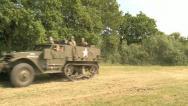 US Army Half Track Armored Vehicle Stock Footage