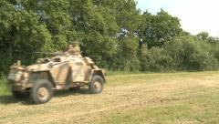 German armoured car Stock Footage