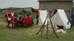 Military encampment 06 Stock Footage