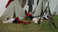 Military encampment 07 Stock Footage