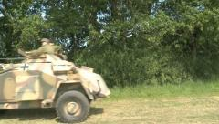 German armored car Stock Footage