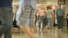Busy Airport Slo-Mo Stock Footage