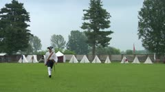Military encampment 08 Stock Footage