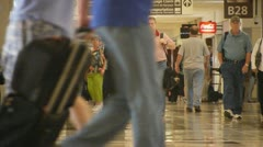 Busy Airport Temrinal Stock Footage