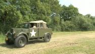 US Army Touring Jeep Stock Footage