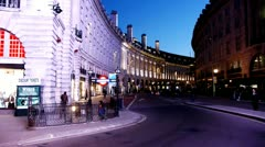 Regent Street Picadilly Circus Stock Footage