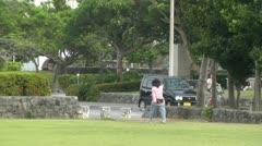 Park in Okinawa Islands 02 Stock Footage