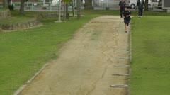 Park in Okinawa Islands 04 running boy Stock Footage
