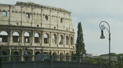 Site seeing around the Colosseum area Stock Footage