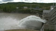 Ghost dam spillway, profile, wide Stock Footage